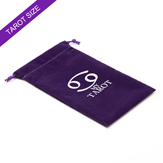 Custom Purple Tarot Velvet Bag
