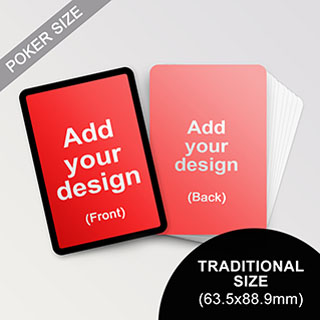 Custom Black Border Poker Sized Cards