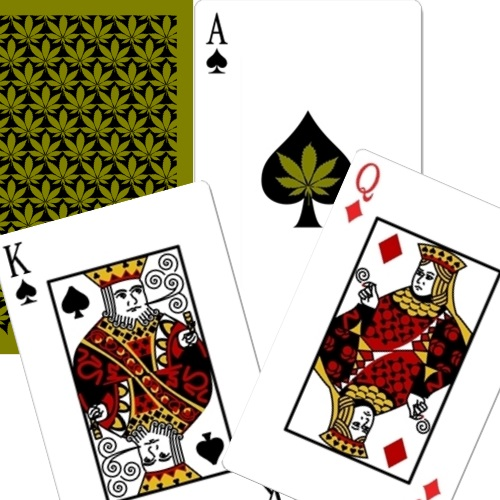 Bridge Size Playing Cards - Rectangular Back