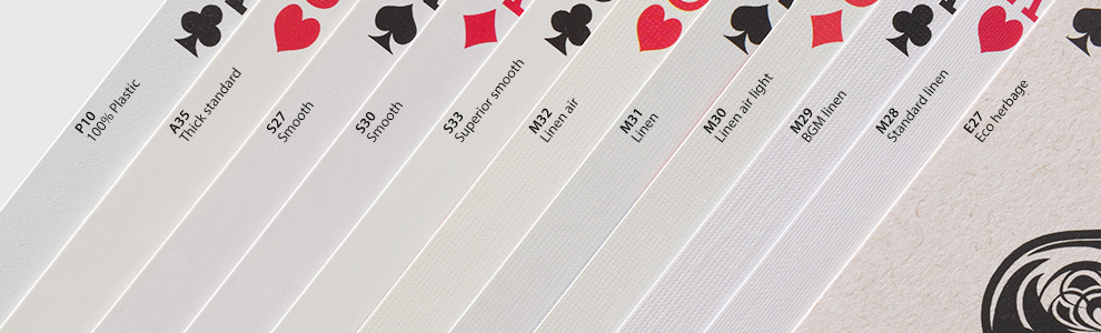 playing card cardstock options