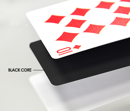 Black Cardstock With White Core