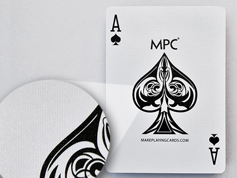 M31 casino quality card stock with black core (linen finish)