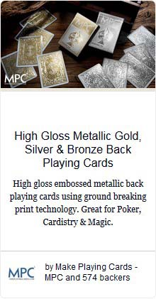 Impressions Foil Playing Cards Gold & Silver Embossed Back
