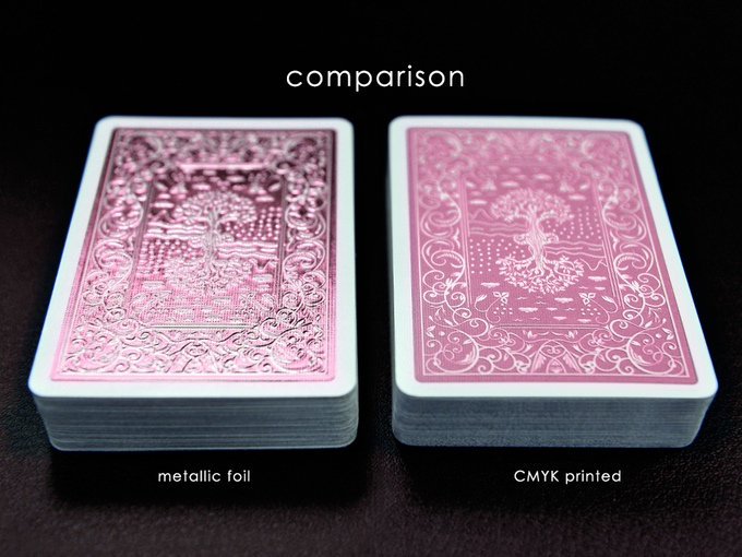 Comparison with normal printed cards