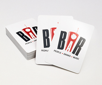 bar playing cards