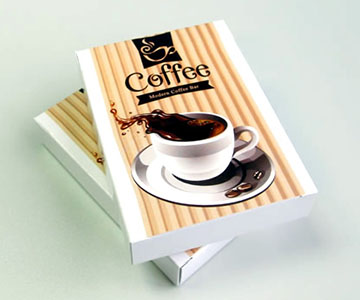 coffee shop card deck box