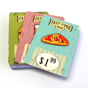 fast food cards